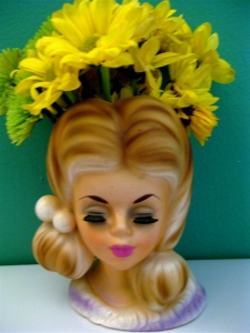 "A ""flower girl"" vase from Kress Store, 1950, $1.99 (all photos by Marylin Warner)"