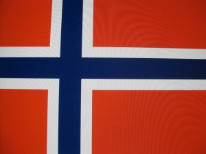 The national flag of Norway, adopted July, 1821