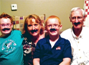Some families prefer not to weigh in on this issue unless they can hide behind disguises like these mustaches.