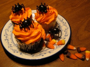 Creepy cupcakes will make your teeth a delightful orange. (All photos by Marylin Warner)