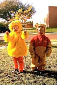 These will always be my favorite Halloween costumes!