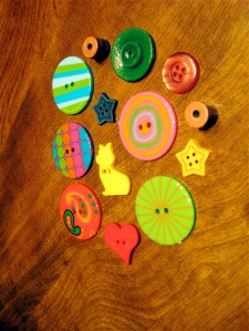 Kids' fun buttons.